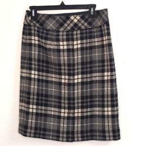 L.L.Bean Women's Wool Plaid Skirt size 6